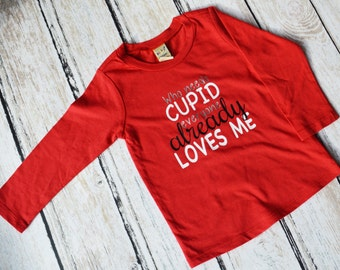 Cupid Shirts, Boys Funny Shirt, Valentines Shirt, Boy Valentine Shirt, Kids Valentines, Funny Baby Clothes, Valentines Day Shirt, Cupid