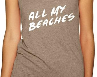 Beach Tank - Women's Tank - Summer Tank - Beach Life Tank Top - Boating Shirt - Women's Shirt - Funny Women's Tank - Gifts for Her