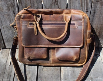 Buffalo Leather Briefcase