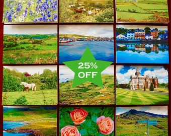 SALE Set of 12 Ireland Notecards, Fine Art Prints, Valentine's Day Gifts, Irish Landscape, Ring of Kerry, Adare, Kenmare, Dingle