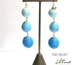 SPRING PROMOTION--->Bon Bon Thread Wrapped Ball Earring