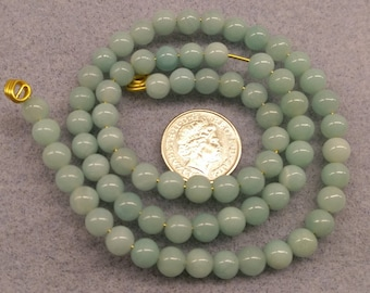 Amazonite 5mm round beads semi precious beads
