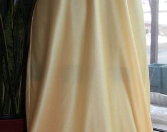 Primrose Yellow, Polyester Satin, Neiman Marcus Nightgown