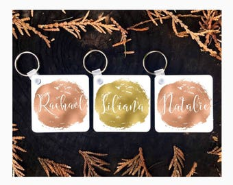 Bridesmaid Keychains, Personalized Keychain, Custom Key Ring, Bridesmaid Gift, Bridesmaid Key Ring, Bridal Party Favors, Keychain Favors