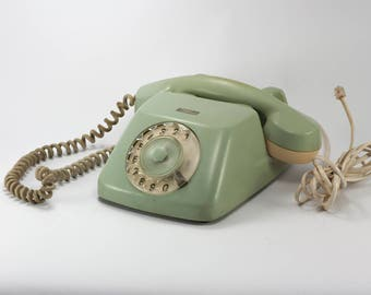 Vintage rotary phone, rotary phone, desk phone, Vintage telephone, 70's telephone, Telephone, retro decor