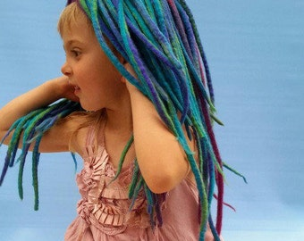 How to Wet Felt Dreadlocks for a Chemo Hat or Photo Prop for a Newborn Child