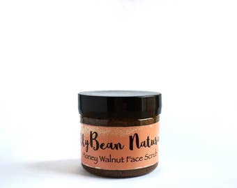 Honey Walnut Face Scrub/Facial Scrub/Honey Mask/Exfoliating Scrub/Face Wash/ Exfoliationg Face Wash/Face Scrub/Facial Cleanser