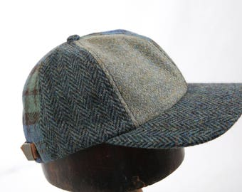 Handmade Harris Tweed Patchwork Baseball Cap