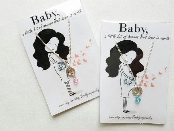 Baby Shower Gift Jewelry ~ New mom jewelry born gift its a girl baby shower