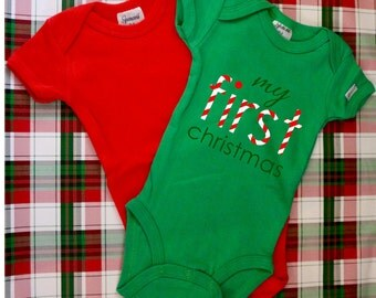 My First Christmas...bodysuit, holiday, cute