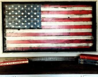 Wood American Flag // American Flag Wall Art // Rustic American Flag // American Flag Wood // US FLAG // Flag Wall Art // American Flag Art