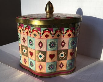 Daher Decorated Ware Tin - Vintage Collectable Daher Ware, Made in Belgium