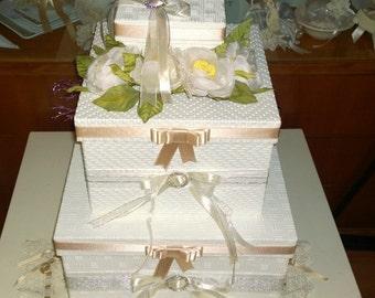 Box Portabusta Wedding Cake shaped to 3 floors