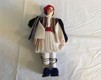 Traditional dress etsy greek doll male in traditional dress 9 tall handpainted face publicscrutiny Image collections