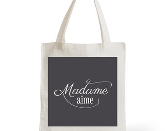 Tote Bag Lady love, gift for her, typography, statement, quote