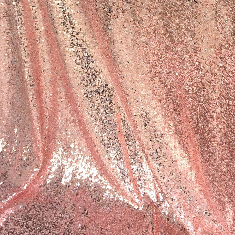 Rose gold sequin fabric glitters sequins fabric for dress for Sparkly material