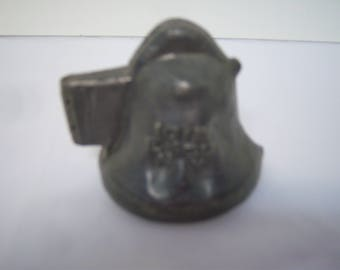 E & Co, NY Mold, #1019, Eppelsheimer Pewter Mold, Bell Shaped, Double Sided, Cupid and Letter C, Hard To Find, Ice Cream, Chocolate, Butter