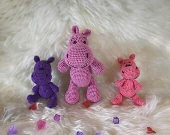 Amigurumi hippo Crochet hippo Plush hippo  Stuffed hippo Stuffed animal Cute hippo Crochet stuffed animal Hippo toy Plush toy Nursery decor