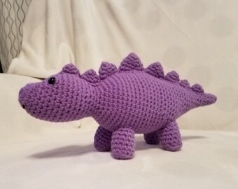 Purple Dinosaur - crochet amigurumi stuffed toy