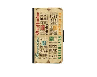 Iphone 4/4s 5/5s case IPhone 6/6s case IPhone 6plus 6s plus case Iphone 7/7plus wallet case Harry Potter -Hogwart Houses  Case