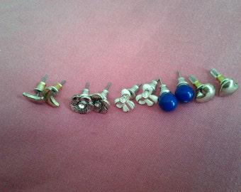 Bundle of Five vintage Stud Earrings