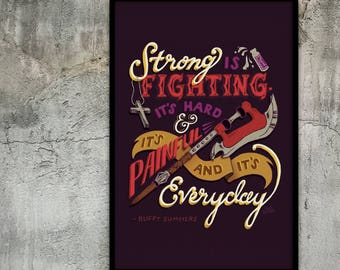 Buffy the Vampire Slayer: Buffy Summers Quote Poster