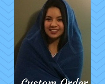 Large Adult/Teen Hooded Towel