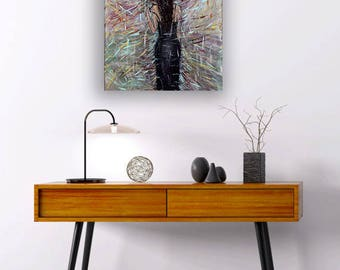 """Acrylic & Oil Painting """"Go Back In Time"""" On Canvas Wall Art"""