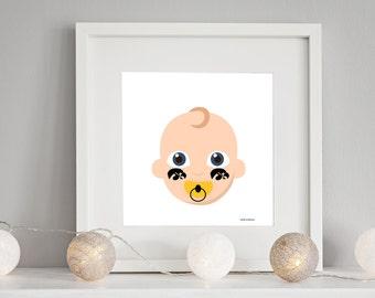 Iowa Hawkeye Blonde Baby Nursery Print - Crib Kinnick