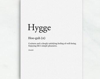 Danish Language Printable Wall Art | Modern Scandinavian Art Printable | Hygge Wall Decor Print | Denmark | Danish Gift for Language Lovers