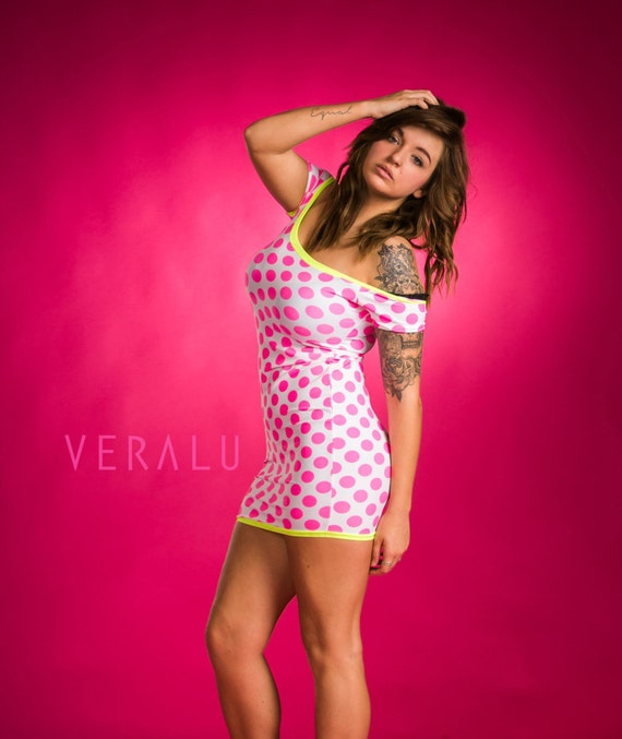 VERALU Neon dots dress