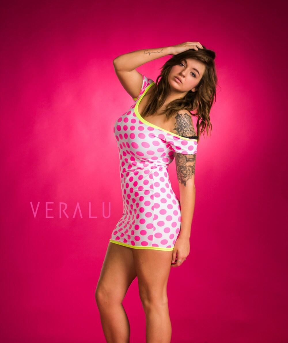 VERALU Neon dots dress