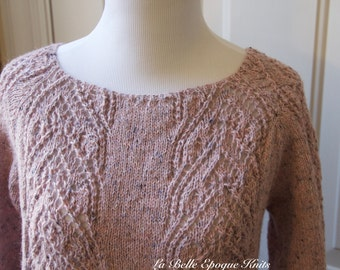 Hand Knit Womens Sweater, Knitted Long Sleeve sweater, Knit sweater, pink sweater, hand knit sweater, knit, sweater,