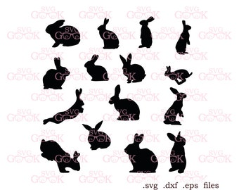 Bunny SVG cut files, Bunny Silhouette svg, Easter Bunny svg cut files for Silhouette and Cricut, svg files