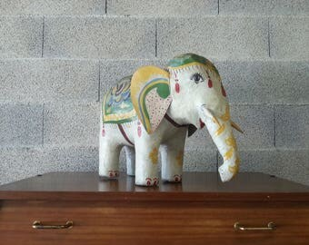 Indian statue of elephant paper mache of the 1970s