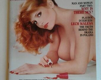 Playboy February 1982 Sylvia Kristel Anne Marie Fox Andy Kaufman Wrestling Girl Erotic Nudity Photos Centerfold