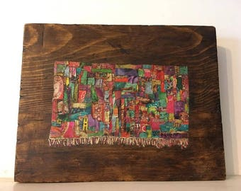 Tapestry painting with collage