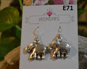 Jewelry by Hyundai's elephant solid earrings