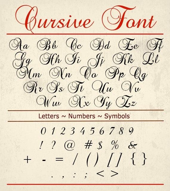 Download Cursive font svg svg fonts Monogram font svg handwriting
