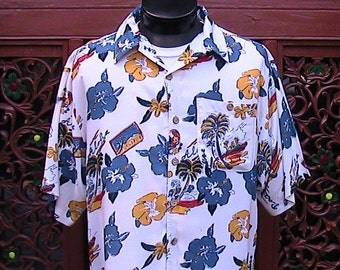 Large RAYON HAWAIIAN SHIRT