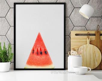 Watermelon Print, Watermelon Art, Fruit Print, Fruit Wall Art, Fruit Decor, Photography, Digital Download, Photo Print, Photo Art, F01
