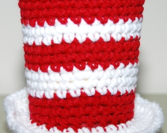 Cat in the Hat-inspired Cup Cozy