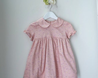 Cotton Spring dress with ribbon tie