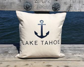 Lake Tahoe Nautical Anchor Pillow