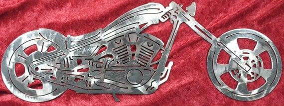 "Drag Style Chopper 16"", Chopper Motorcycle, Drag Handlebars, Motorcycle, Metal Motorcycle, Chopper, Motorcycle Shop Decor, Man Cave, Gift"