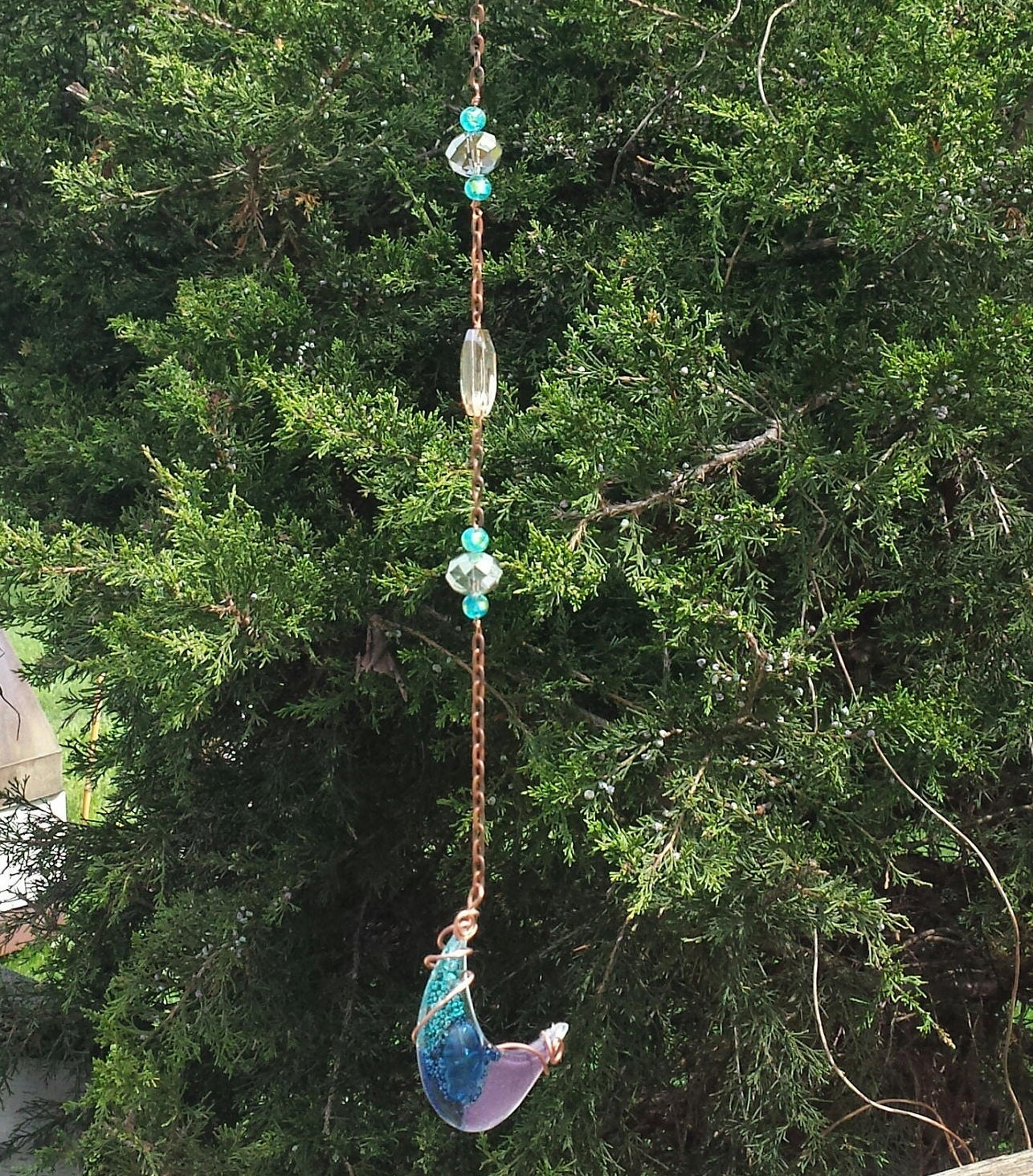 Wine Bottle Wind Chime, Recycled Wine Bottle, Gifts for Her, Patio ...