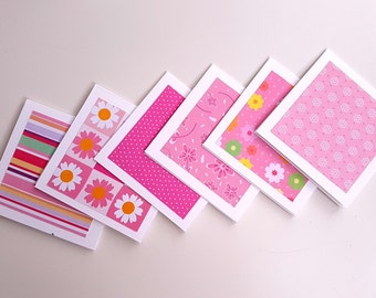 """Set of 6 3""""x3"""" mini notecards // mini note cards// blank notecards// blank cards// mini cards"""