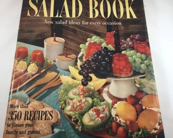 Salad Cookbook - Better Homes and Gardens - Vintage Cookbook - 1950s Cookbook - Vintage Kitchen - Recipe Collection - Hardcover Cookbook