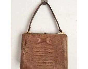 Vintage Faux Reptile Skin Purse, Vintage Handbag
