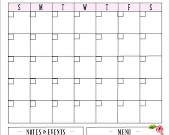 Whiteboard Calendar, Custom Floral Calendar , Dry-erase Family Calendar , Flower Calendar , Watercolor Calendar , Watercolor Flower Calendar